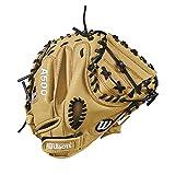 Wilson A50032'juventud catcher del guante: wta05rb18cm - WTA05RB18CM, Lanzador diestro, Beige/Negro/Rojo