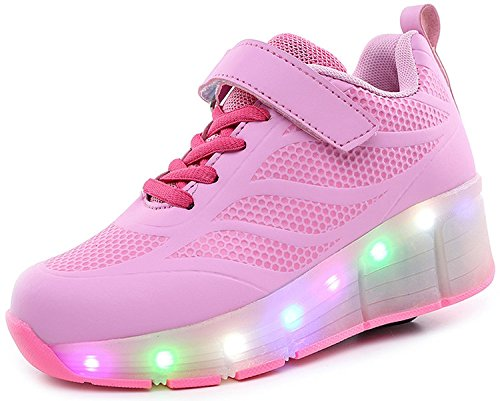 ECOTISH Zapatillas Rosa Formadoras Flying LED
