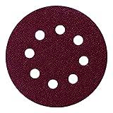 Bryson 07266 Velcro con dischi abrasivi per levigatrici orbitali, 180 Grit, 125 mm (confezione da 100)