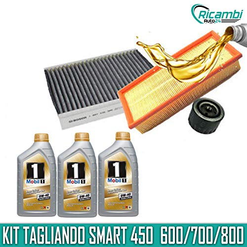 KIT TAGLIANDO SMART 450 600/700/800cc 3LT OLIO MOBIL 0W40