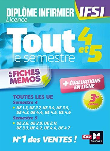 Tout le semestre 4 & 5 en fiches memos & QCM - DEI - IFSI - Entraînement et révision - 3ème édition par Kamel Abbadi