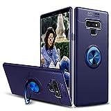SORAKA Funda para Samsung Galaxy Note 9,Caja giratoria del Soporte TPU del Anillo de 360 Grados y Imanes de Coche (Samsung Galaxy Note 9, Azul)