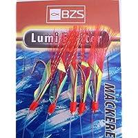 BZS Lumi Exciter Mackerel - 5 Paquetes de Plumas