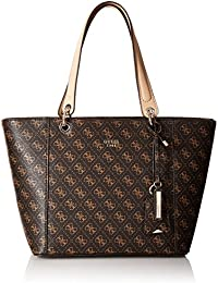 4782cf4e3a3d Guess Women s Faux Leather Tote Bag - Brown