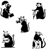 A-Wall Stickers Gran vinilo de papel con dibujos de 5 ratas