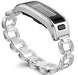 Ersatzarmband für Garmin Vivosmart HR, Metallgehäuse mit einstellbarem Uhrenarmband, Zubehör, GM-03-Silver
