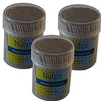 3 Packs Nutips Wooden toothpicks 50g each ( pack of 3)