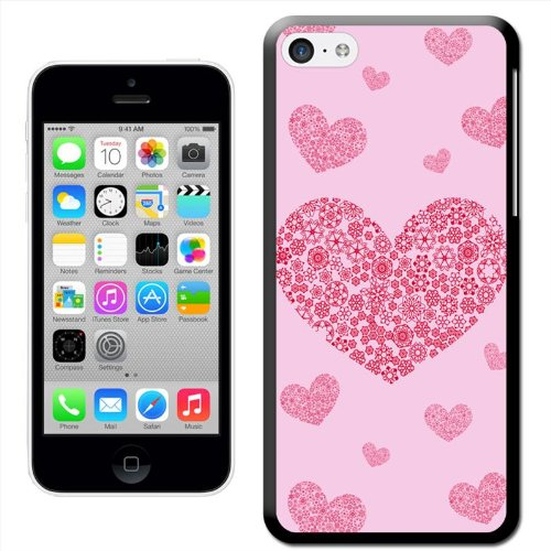 Fancy A Snuggle 'Golden Love Hearts' Hard Case Clip On Back Cover für Apple iPhone 5C Snowflake Hearts