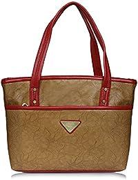 Fantosy Beige And Maroon Women Shoulder Bag (beige And Maroon) (FNb-785)