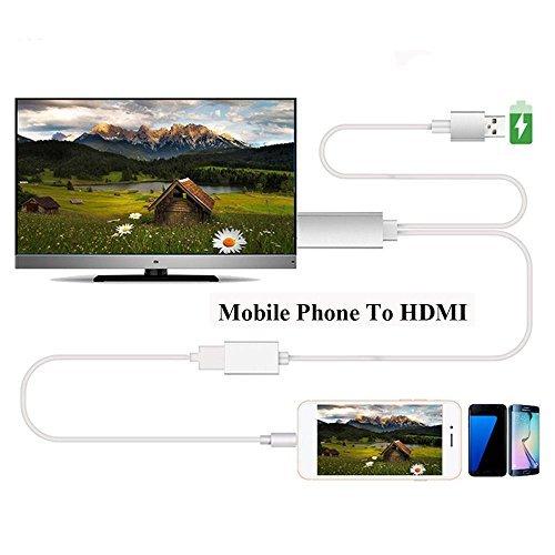 Efanr MHL USB a HDMI 1080p HDTV Cable adaptador de Audio Universal TV Converter para iPhone 7Plus 66S Plus iPad Samsung Galaxy S3S4S5S6Nota 45HTC Android dispositivos