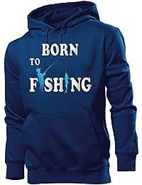 ANGELN - BORN TO FISHING - Cooler Comedy Herren Kapuzenpullover S-XXL