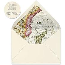 sobres forrados invitaciones de boda-VARIADOS: VINTAGE, FLORES, MAPAS, MAR...- 22,5x16,5 cm (mapa antiguo-01)
