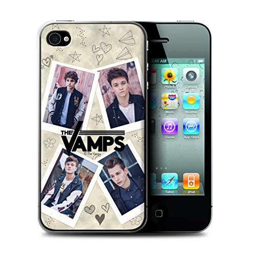 Offiziell The Vamps Hülle / Case für Apple iPhone 4/4S / Pack 5Pcs Muster / The Vamps Doodle Buch Kollektion Mappe