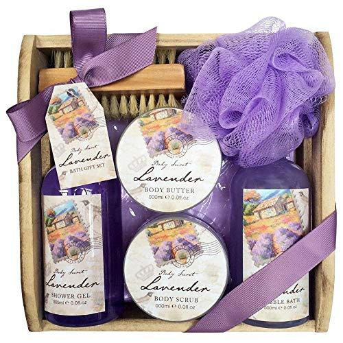 Scheda dettagliata Gloss!, Set da regalo con prodotti per il bagno Les Belles Fleurs su vassoio, aroma: Lavanda, 5 pz.