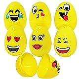 The Twiddlers 30er Set Ostereier zum Befüllen & Plastikeier zum Öffnen aus Kunststoff mit Smiley Emoji Gesichtern – stylische Plastik Eier zum Verstecken & Suchen – das ideale Geschenk zu Ostern
