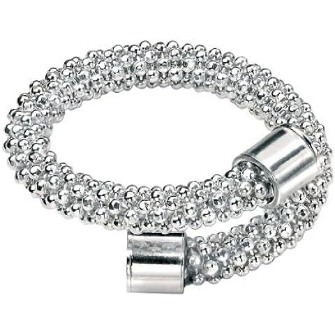 Elementos de plata del grano del anillo de la cadena de las palomitas - grande