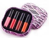 cdet 4colori labbra all' acqua Rosso a labbro Beauty Waterproof Liquid sostenibile lunga durata Idratante lucido a labbra trucco
