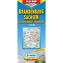 B & B Deutschland, Deutsche Straßenkarten, Bl.3, Berlin, Brandenburg, Thüringen, Sachsen, Sachsen-Anhalt