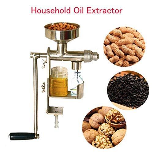 CGOLDENWALL Manuelle Ölpresse Maschine Haushalt Öl Extraktor Erdnüsse Samen Öl Pressmaschine Expeller Öl Extraktor Maschine HY-03