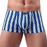 Qmber Herren-Unterwäsche, Herren-Unterwäsche Sexy Bequeme Atmungsaktive Unterwäsche als Schlafanzug Pyjama Bequem und Flexibel (Blau, XL)