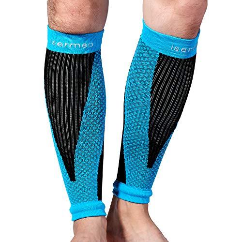 Isermeo fascia a compressione polpaccio graduata, fasce a compressione polpacci per recupero e allenamento, gambaletti gamba elastico gambali sport per uomo e donna per running, crossfit