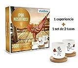 VIVABOX Caja Regalo -¡por Nosotros!- 3.300 Momentos Especiales. Incluye: un Juego de 2 Tazas Originales con Platos de Madera