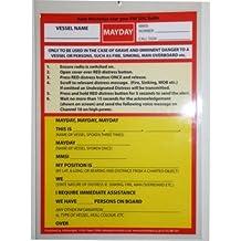 VHF DSC Mayday Procedure Card (Cockpit Cards)