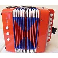 ts-ideen–acordeón de 3años para niños pequeños en color rojo con 7teclas y 2bajos notas