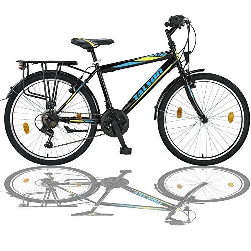 Talson 24 Zoll Fahrrad 21-Gang Shimano MIT Beleuchtung Farbe SCHWARZ