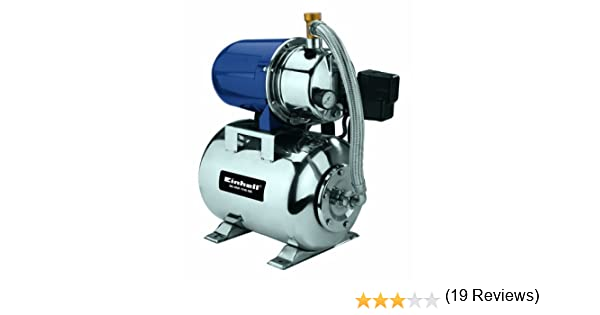 Einhell Groupe de surpression GC-WW 1250 NN 1200 W, Hauteur de refoulement 50 m, Hauteur daspiration 8 m, Pression 5 bar, Pression de d/émarrage max. 1,5 bar