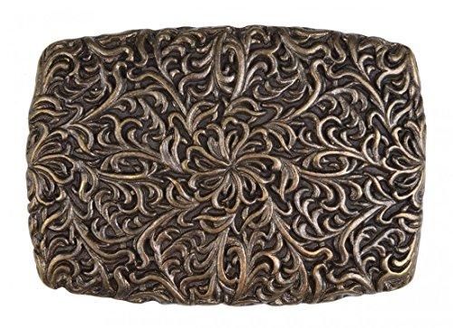 Infinite Outfits Gürtelschnalle mit Relief - Florales Chaos - Wechselschliesse in edlem Design als besonderes Geschenk Floral Relief