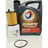 PACK Total Quartz 9000 Energy 5W-40 5 lts + Filtro Aceite Original motor 1.6
