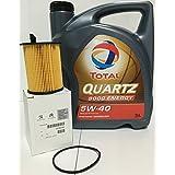 PACK Total Quartz 9000 Energy 5W-40 5 lts + Filtro Aceite Original motor 1.6