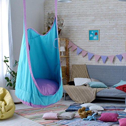 Leiyini Hängehöhle für Kinder, Hängesitz Hängeschaukel Hängesessel mit Sitzkissen für Outdoor und Indoor