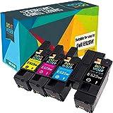 Do it wiser kompatible Toner als Ersatz für Dell E525w 593-BBLN 593-BBLL 593-BBLZ 593-BBLV (4er-Pack)