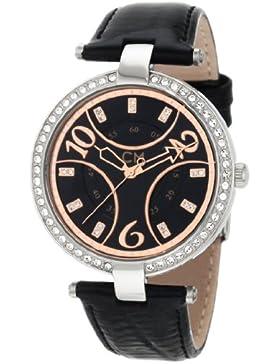 Carlo Monti Armbanduhr für Damen mit Analog Anzeige, Quarz-Uhr und Lederarmband - Wasserdichte Damenuhr mit zeitlosem...