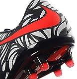 Nike Men's Hypervenom Phinish NJR Fg Black/Bright Crimson/White Soccer Shoes - 9