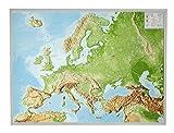 Reliefkarte Europa Gross 1 : 8.000.000 mit Aluminium Rahmen -