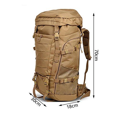 zaino trekking Maschio / femmina 60L / 70L / 80L Escursione Outdoor Borsa da spalla Tempo libero Sport Borsa da montagna Zaini da escursionismo ( Colore : N-80L-30*18*70cm ) M-80L-30*18*70cm