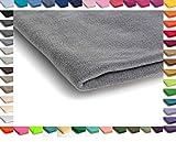 Polar Antipilling Fleece Stoffe 300 g/m² von allerbester Qualität erhältlich in 50 Farben 50 x 155 cm (Nr 8 Hellgrau)
