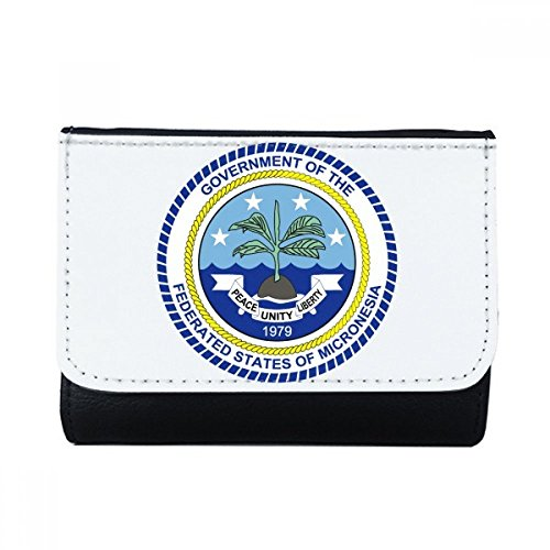 DIYthinker Mikronesien National Emblem Multifunktions-Leder-Mappen-Karten-Geldbeutel-Geschenk (Karte Von Mikronesien)