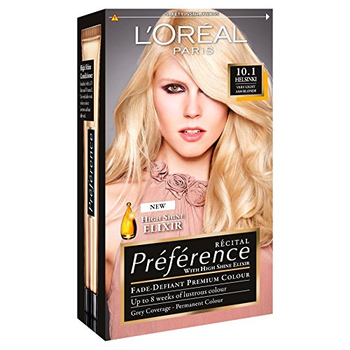 3 x L Oreal Paris Recital Preference Permanent Colour 10.1 Helsinki Very  Light Ash Blonde 13ded3de564f