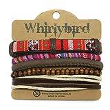 Whirlybird Armbänder Leder, Perlen, Totenkopf, Stoff, mit, Mischung in verschiedenen Sets für Männer Frauen von Sterling effectz (Set 24)