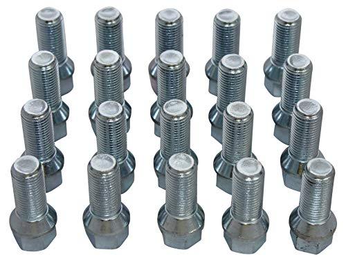 Radschrauben Radbolzen M14x1,5x28mm Kegelbund SW 17 20 Stück Alufelgen Stahl