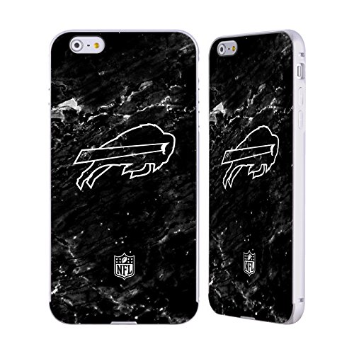 Ufficiale NFL Righe 2017/18 Buffalo Bills Argento Cover Contorno con Bumper in Alluminio per Apple iPhone 5 / 5s / SE Marmo