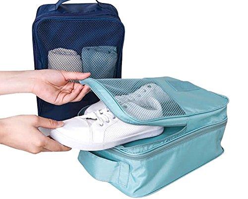 Damara® Unisex Einfarbig Schuhaufbewahrung Aufbewahrungstasche,Weinrot Wassermelone