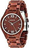 OLIVER REDMONT Orologio in legno| RED EDITION | Orologio realizzato in autentico legno di sandalo |...