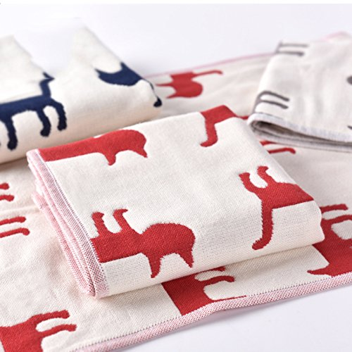 DHG 3 Kinder Baumwollhandtuch, Vier-Schicht-Gaze   Kind, Handtuch Waschen Handtuch, Niedlichen Cartoon-Kind Handtuch, Kleines Handtuch,Grau,27x50cm (Badetücher 27 X 50)