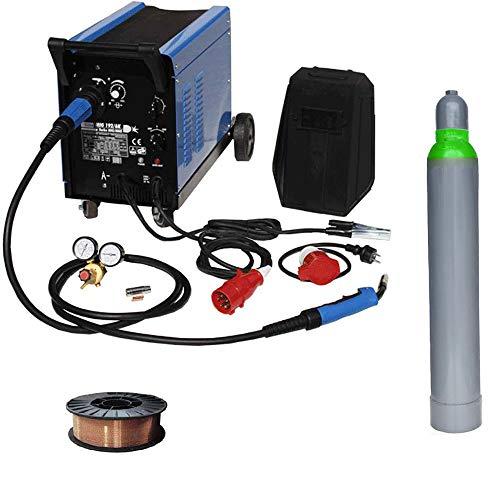 Güde Schutzgasschweißgerät Mig 192/6K + WD Tools Schweißdraht 5 kg & Schutzgas