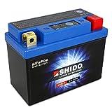 Motorrad Batterie Shido Lithium LB5L-B/YB5L-B, 12V/5AH (Maße: 121x61x131)